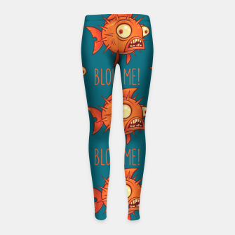 Miniatur Blow Me Porcupine Blowfish Girl's leggings, Live Heroes