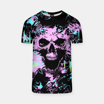 Thumbnail image of Alternative Skull Graffiti T-Shirt, Live Heroes