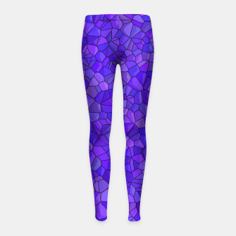 Thumbnail image of Sapphires and Amethysts Girl's leggings, Live Heroes