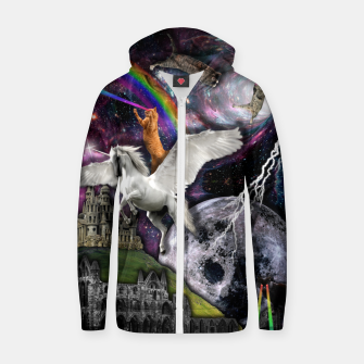 Thumbnail image of THE LAST UNICORN Sudadera con capucha y cremallera , Live Heroes