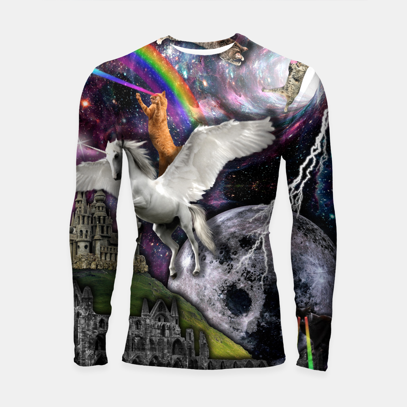 Image of THE LAST UNICORN Longsleeve rashguard - Live Heroes