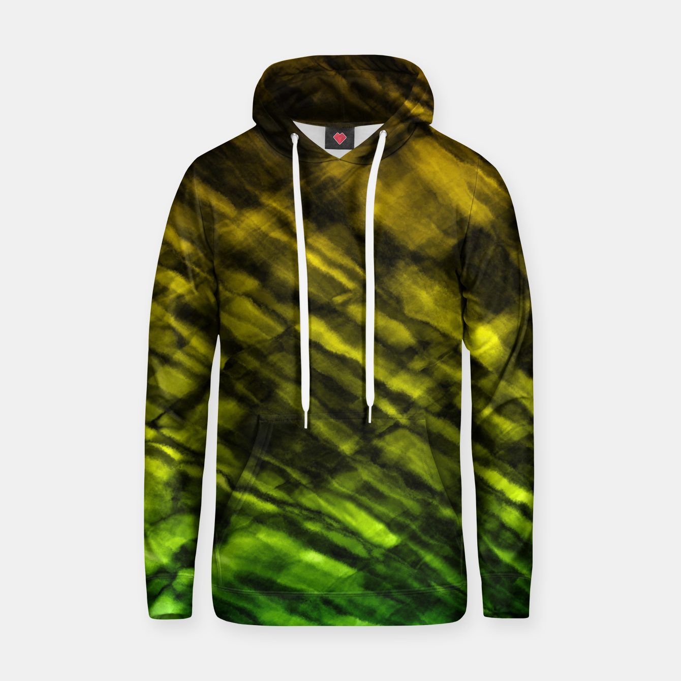 Image of Rock Pool in Green and Gold Hoodie - Live Heroes