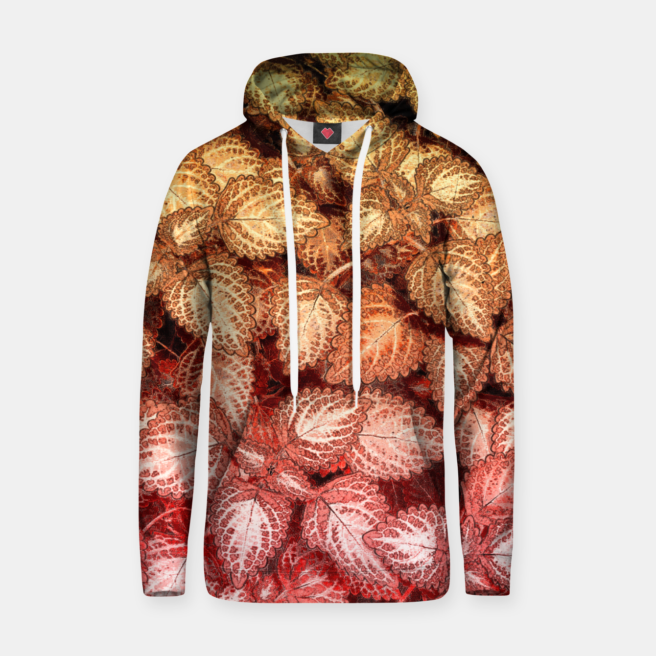 Image of Lovely Leaves, in Red and Gold Hoodie - Live Heroes
