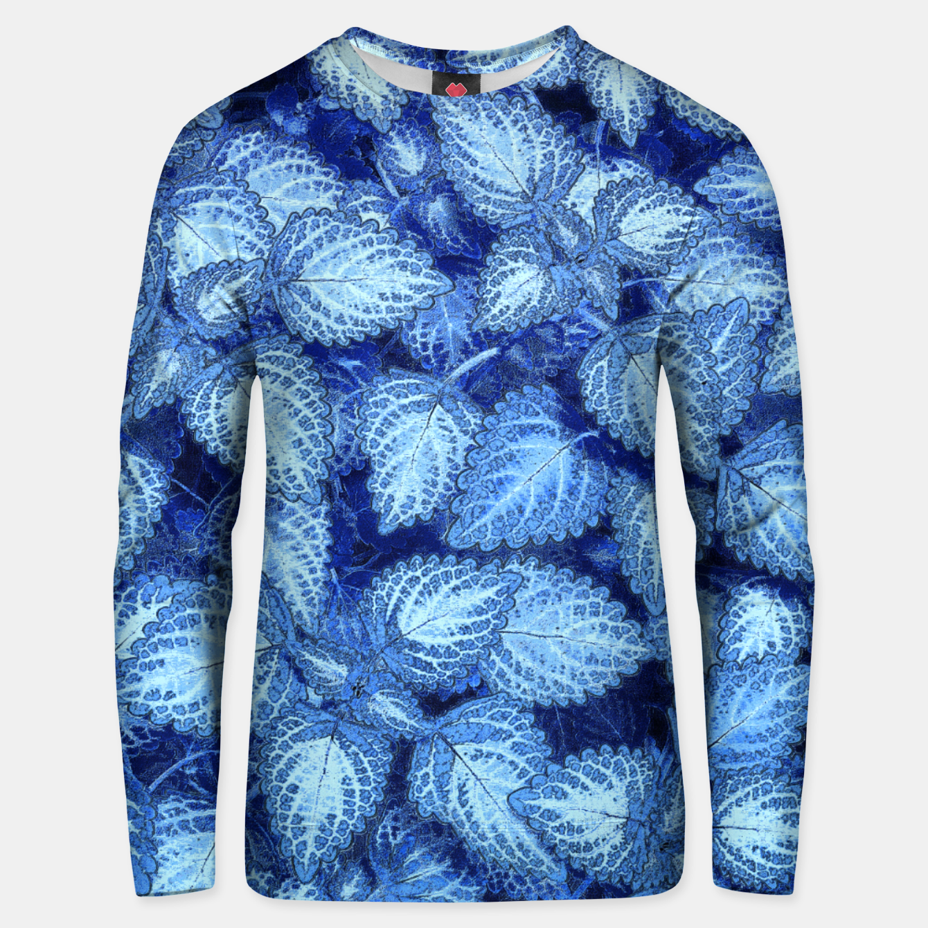 Image of Lovely Leaves, in Blue Unisex sweater - Live Heroes