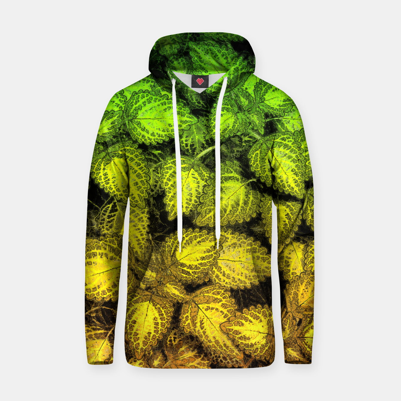 Image of Lovely Leaves, in Green and Gold Hoodie - Live Heroes