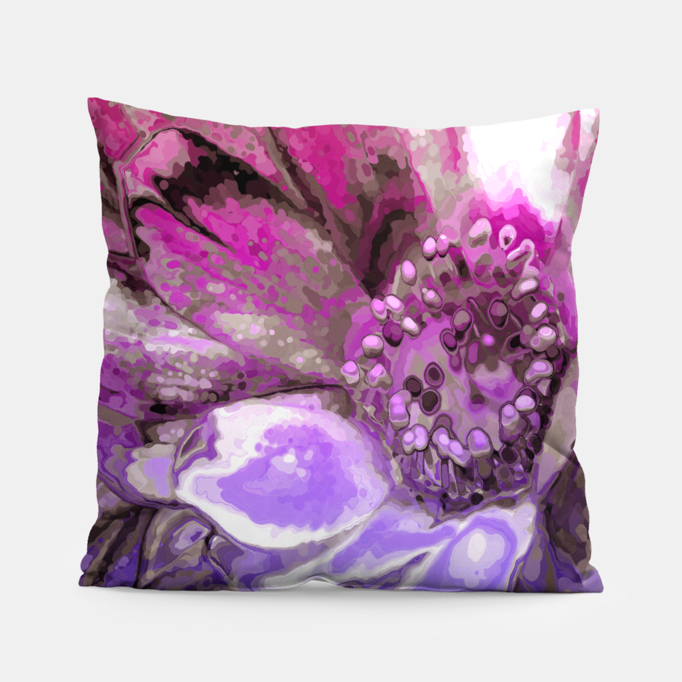 Image of In Sunlight, Petunia Reflections Pillow - Live Heroes