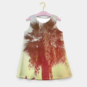 Miniatur Palm trees Girl's summer dress, Live Heroes