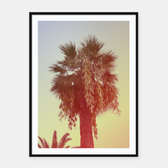 Miniatur Palm trees Framed poster, Live Heroes
