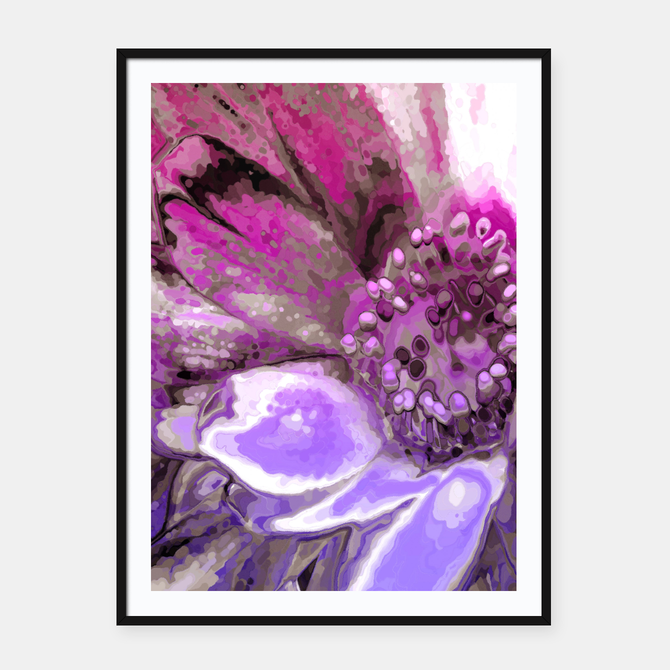 Image of In Sunlight, Petunia Reflections Framed poster - Live Heroes