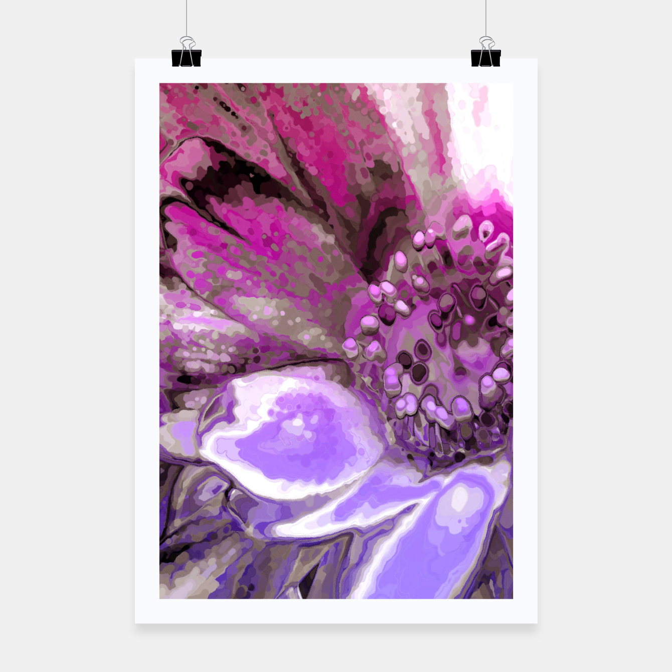 Image of In Sunlight, Petunia Reflections Poster - Live Heroes