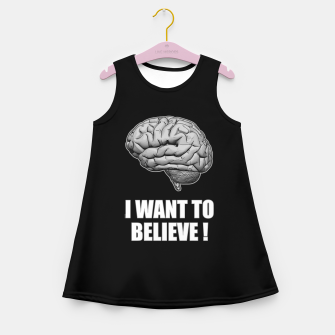 I WANT TO BELIEVE BRAIN ILLUSTRATED MESSAGE Mädchen-Sommerkleid thumbnail image