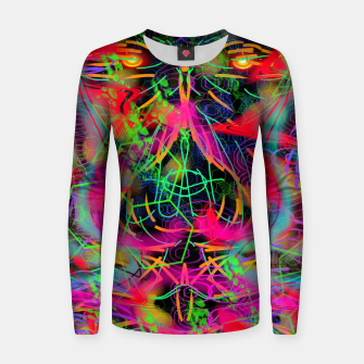 Thumbnail image of Jabo (abstract, primitive, modern art) Women sweater, Live Heroes