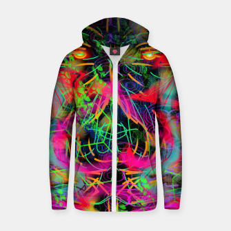 Thumbnail image of Jabo (abstract, primitive, modern art) Zip up hoodie, Live Heroes