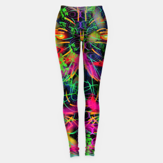 Thumbnail image of Jabo (abstract, primitive, modern art) Leggings, Live Heroes