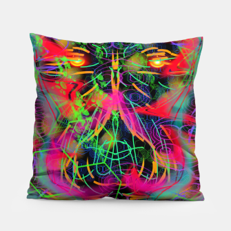 Thumbnail image of Jabo (abstract, primitive, modern art) Pillow, Live Heroes