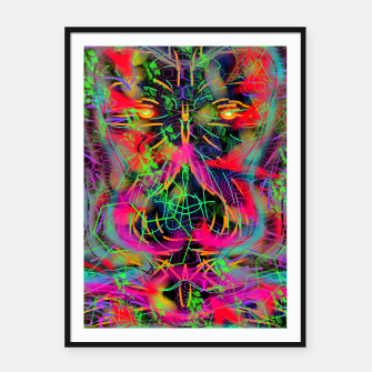 Thumbnail image of Jabo (abstract, primitive, modern art) Framed poster, Live Heroes