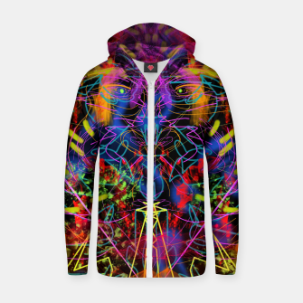 Miniaturka Blowing Fire (abstract, primitive, modern) Zip up hoodie, Live Heroes