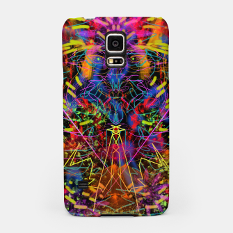 Miniaturka Blowing Fire (abstract, primitive, modern) Samsung Case, Live Heroes