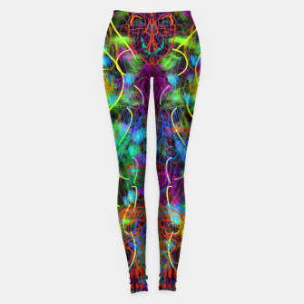 Thumbnail image of Teeth Chattering Rhythms (abstract, modern, primitive) Leggings, Live Heroes