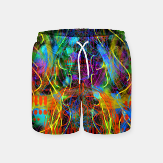 Thumbnail image of Teeth Chattering Rhythms (abstract, modern, primitive) Swim Shorts, Live Heroes