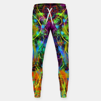 Thumbnail image of Teeth Chattering Rhythms (abstract, modern, primitive) Sweatpants, Live Heroes