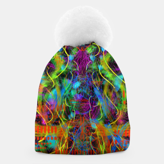 Thumbnail image of Teeth Chattering Rhythms (abstract, modern, primitive) Beanie, Live Heroes