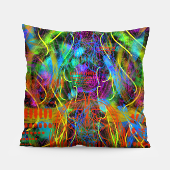 Thumbnail image of Teeth Chattering Rhythms (abstract, modern, primitive) Pillow, Live Heroes