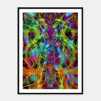Thumbnail image of Teeth Chattering Rhythms (abstract, modern, primitive) Framed poster, Live Heroes