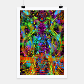 Thumbnail image of Teeth Chattering Rhythms (abstract, modern, primitive) Poster, Live Heroes