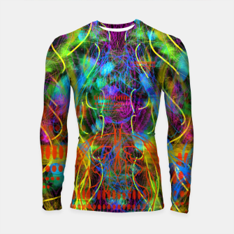 Thumbnail image of Teeth Chattering Rhythms (abstract, modern, primitive) Longsleeve rashguard , Live Heroes
