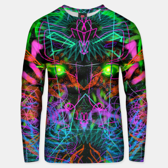 Thumbnail image of Quantobit's Exhalation (psychedelic, primitive, abstract) Unisex sweater, Live Heroes