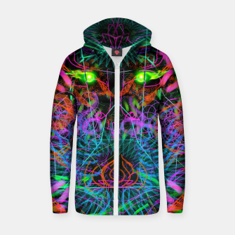 Thumbnail image of Quantobit's Exhalation (psychedelic, primitive, abstract) Zip up hoodie, Live Heroes