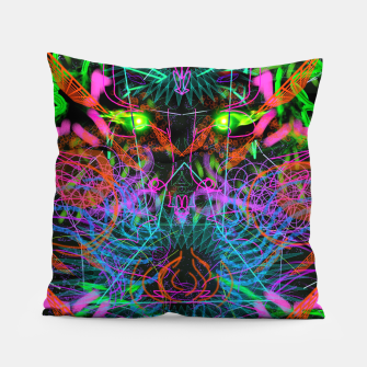 Thumbnail image of Quantobit's Exhalation (psychedelic, primitive, abstract) Pillow, Live Heroes