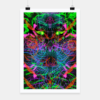 Thumbnail image of Quantobit's Exhalation (psychedelic, primitive, abstract) Poster, Live Heroes