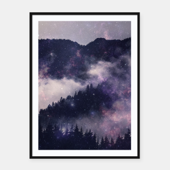 Thumbnail image of Dark Forest Framed poster, Live Heroes