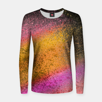Thumbnail image of Yellow Pink Black Spray Paint Women sweater, Live Heroes