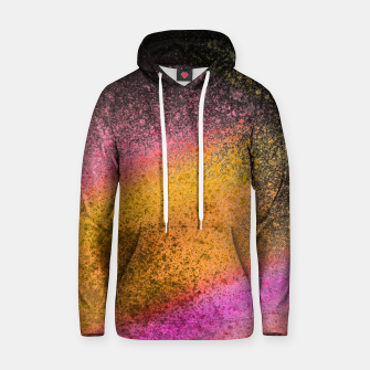 Thumbnail image of Yellow Pink Black Spray Paint Hoodie, Live Heroes