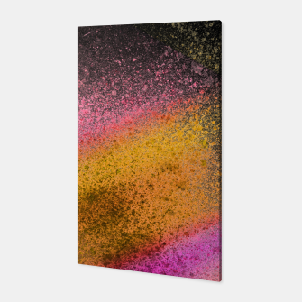 Thumbnail image of Yellow Pink Black Spray Paint Canvas, Live Heroes