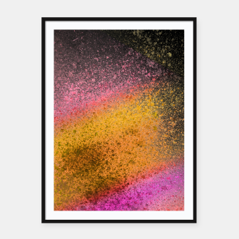 Thumbnail image of Yellow Pink Black Spray Paint Framed poster, Live Heroes