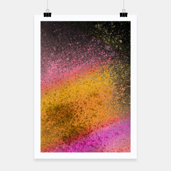 Thumbnail image of Yellow Pink Black Spray Paint Poster, Live Heroes