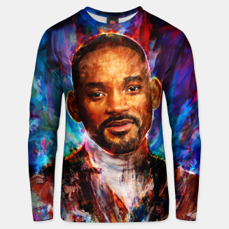 Miniatur will smith Unisex sweater, Live Heroes