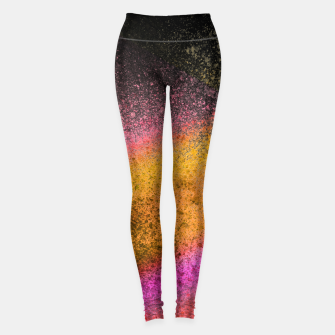 Thumbnail image of Yellow Pink Black Spray Paint Leggings, Live Heroes
