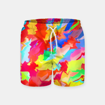 Thumbnail image of Boomba Swirl Red Swim Shorts, Live Heroes