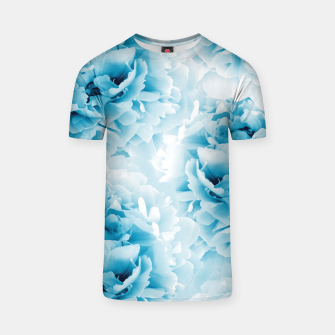 Thumbnail image of Blue Peonies Dream #1 #floral #decor #art  T-Shirt, Live Heroes