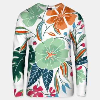 Thumbnail image of Minty and Rust Floral Unisex sweater, Live Heroes