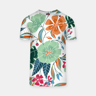 Thumbnail image of Minty and Rust Floral T-shirt, Live Heroes