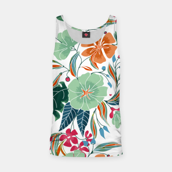 Thumbnail image of Minty and Rust Floral Tank Top, Live Heroes