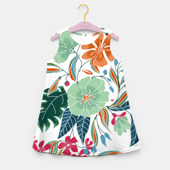Thumbnail image of Minty and Rust Floral Girl's summer dress, Live Heroes