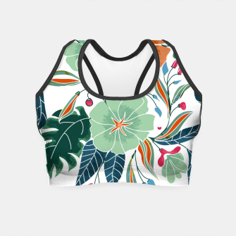 Thumbnail image of Minty and Rust Floral Crop Top, Live Heroes