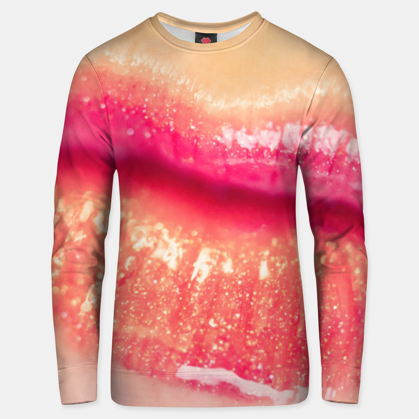 Image of lips #1 Unisex sweater - Live Heroes